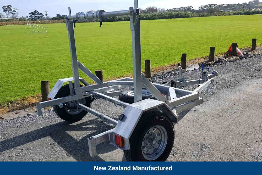 Self Loading Cable Drum Trailer- Single Axle image 0