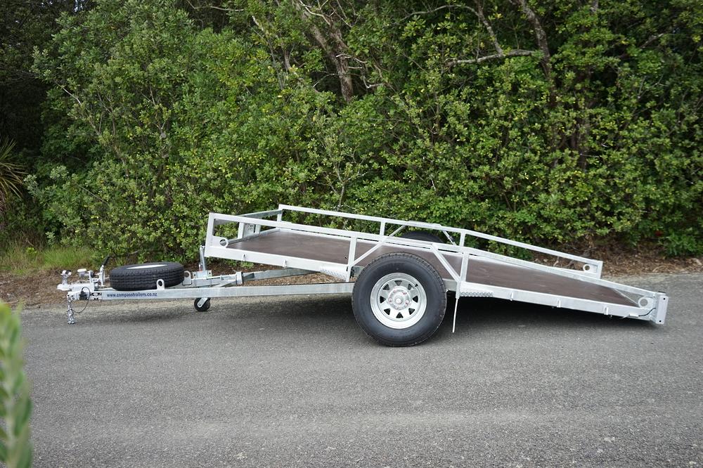 Single Axle Tilt Mower Trailer 3050mm x 1950mm 1500kg Braked image 1