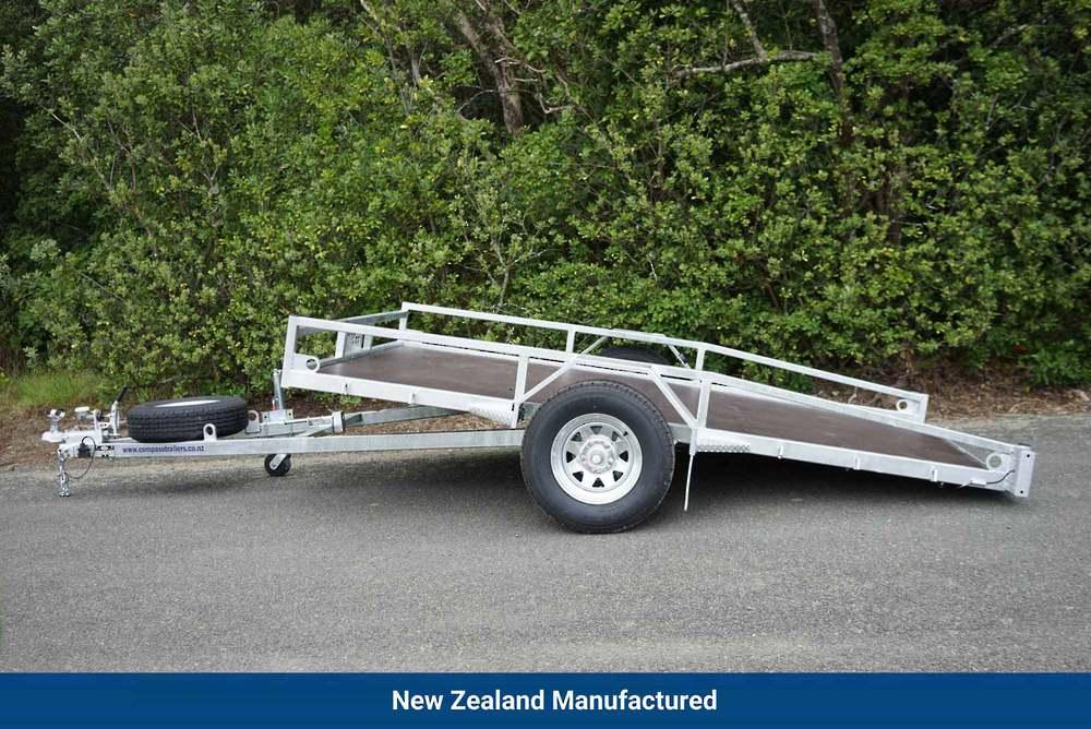 Single Axle Tilt Mower Trailer 3050mm x 1950mm 1500kg Braked image 0