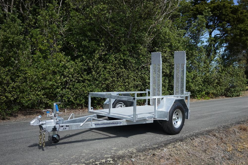 Single Axle Scissor Lift Trailer 2100 x 1220mm Braked image 7