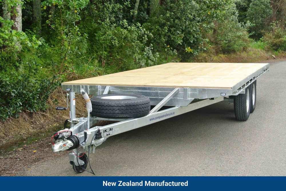 Flat Deck Tandem 4820 x 2200mm 3500kg GVM 4 Wheel European Braking image 0