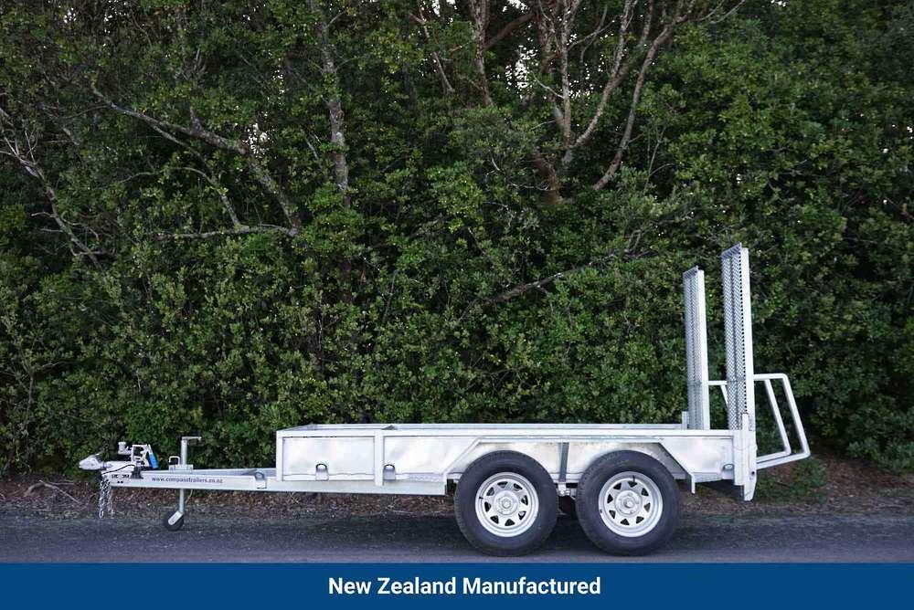 ENCLOSED Heavy Duty Tandem Digger Trailer 2500kg GVM Braked image 0