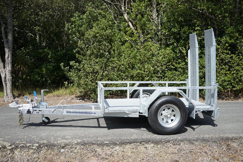 Single Axle Scissor Lift Trailer 2100 x 1220mm Braked image 1