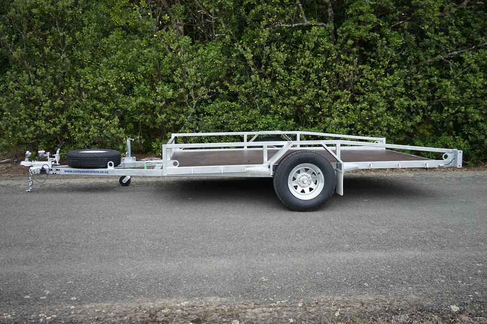 Single Axle Tilt Mower Trailer 3050mm x 1950mm 1500kg Braked image 2