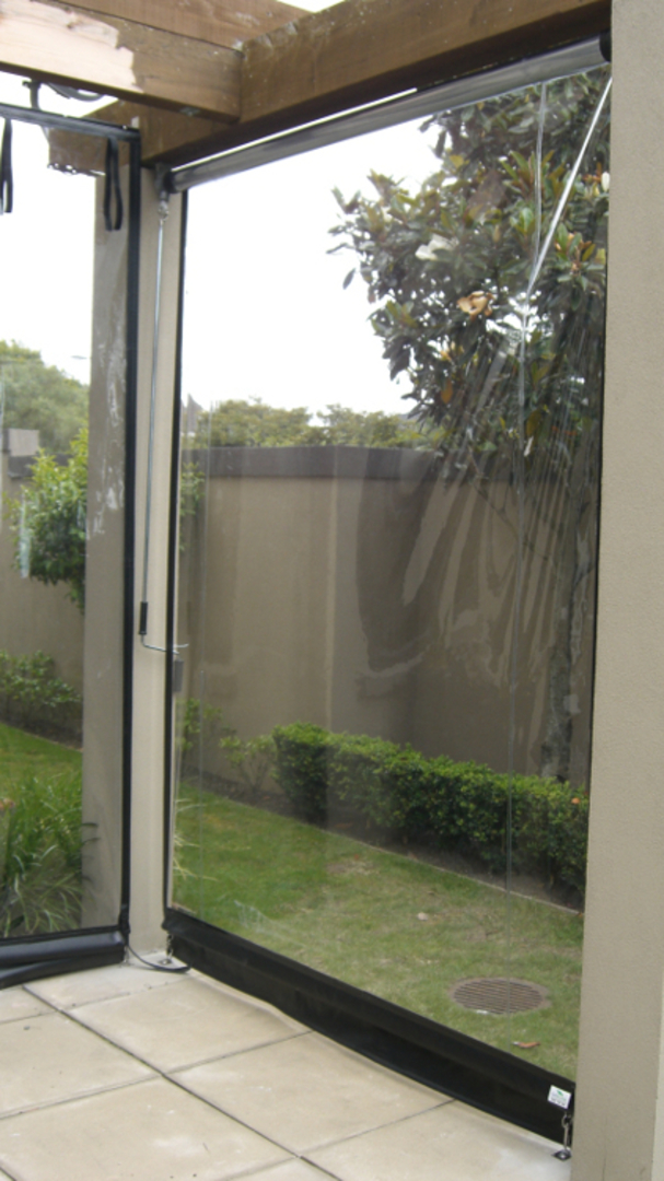 Crank rolled outdoor blinds image 8