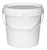 Click to swap image: COPACK Round Tab-Pail 10 Litre White T/E Base & White Lid