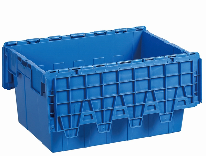 45 Litre Attached Lid Crate (600 x 400mm) image 2