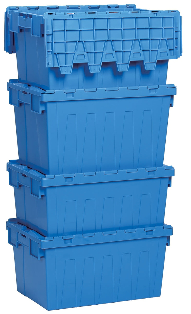 45 Litre Attached Lid Crate (600 x 400mm) image 4