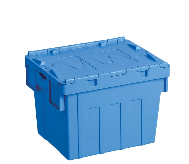 25 Litre Attached Lid Crate (400 x 300mm) image 0
