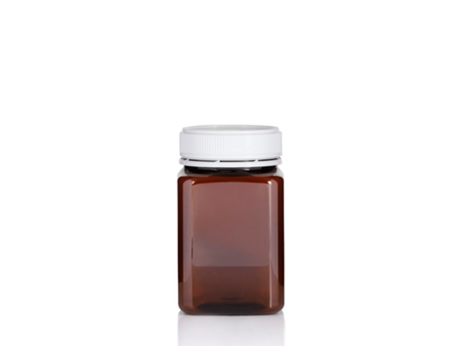 400ml Square PET Jar image 1