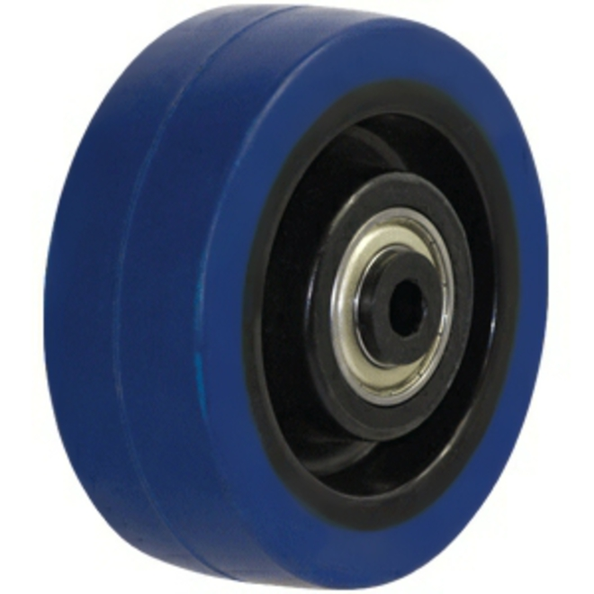 100mm HD Blue Rebound Rubber Wheel image 0