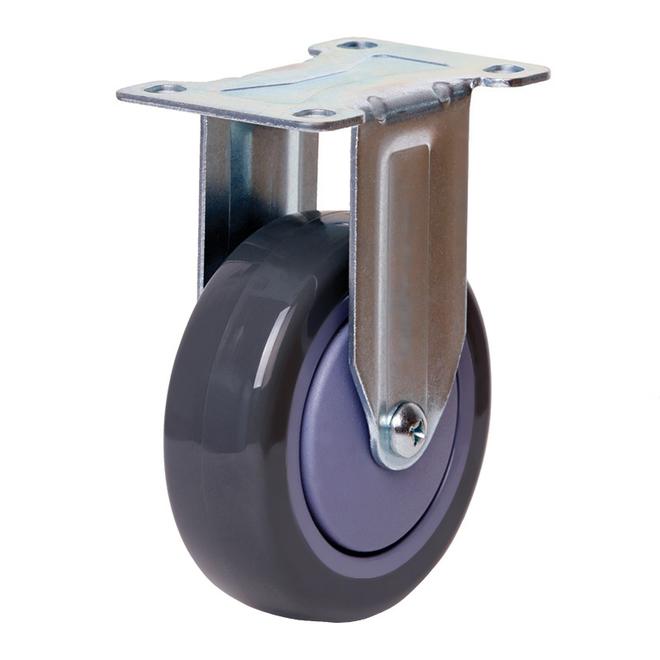 Rigid Castor with 100mm Polyurethane Wheel image 0