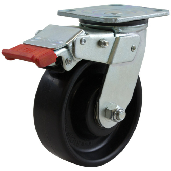 Swivel Lock Brake Castor with 150mm Nylon Wheel image 0