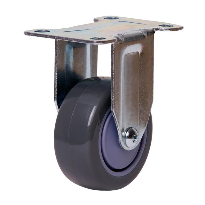 Rigid Castor with 75mm Polyurethane Wheel image 0