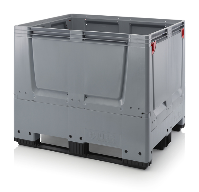 900 Litre Collapsible Pallet Bin  Solid with Skids image 0