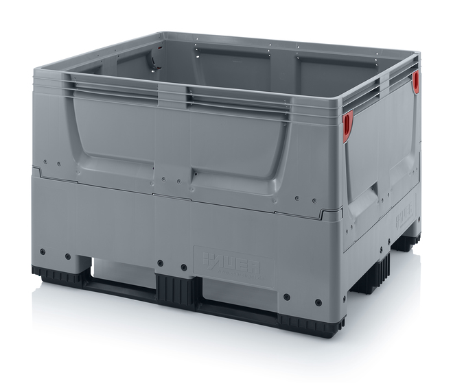 670 Litre Collapsible Pallet Bin Solid with Skids image 0
