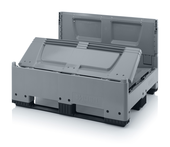 670 Litre Collapsible Pallet Bin Solid with Skids image 3