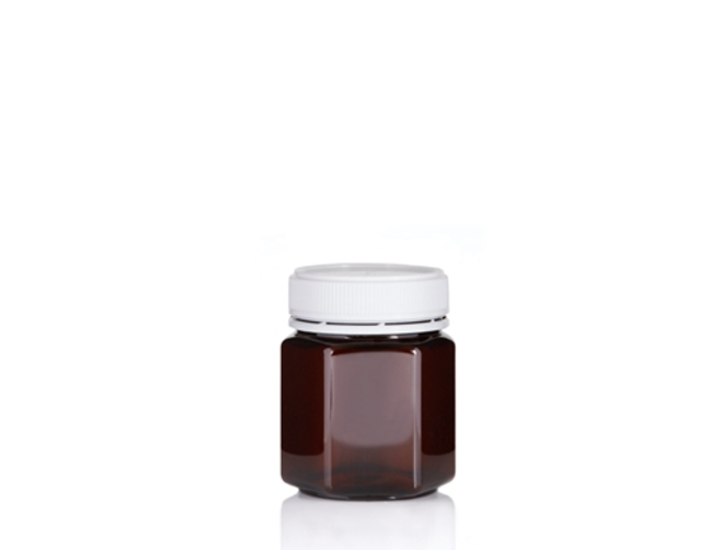 200ml Hex PET Jar image 1