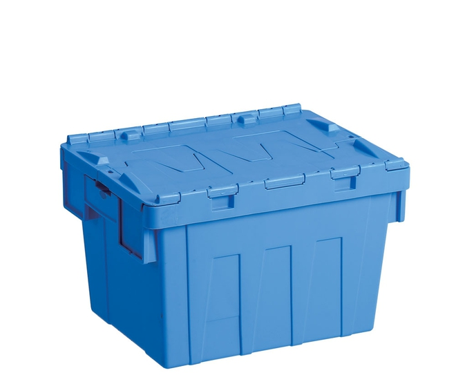 20 Litre Attached Lid Crate (400 x 300mm) image 0