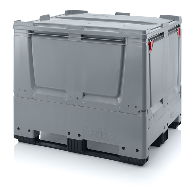 900 Litre Collapsible Pallet Bin  Solid with Skids image 6