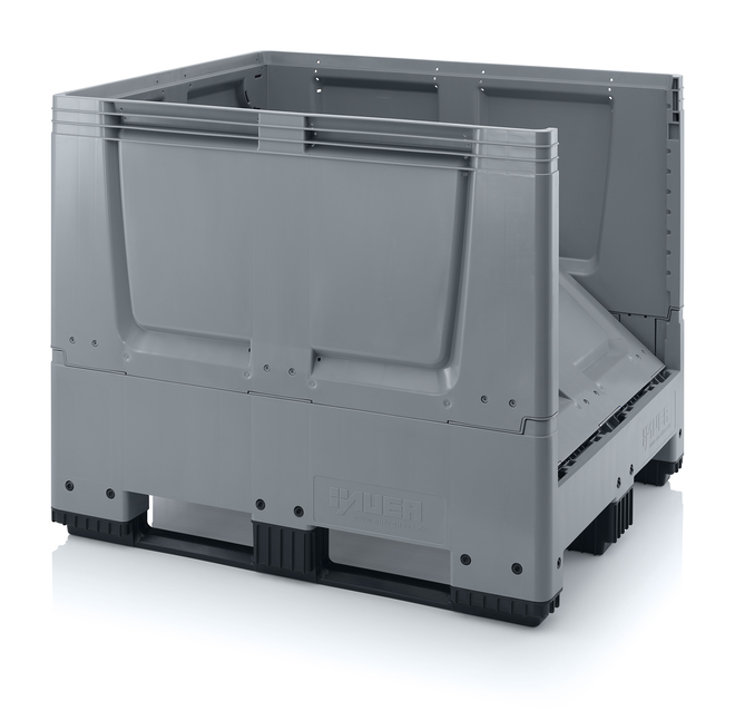 900 Litre Collapsible Pallet Bin  Solid with Skids image 1