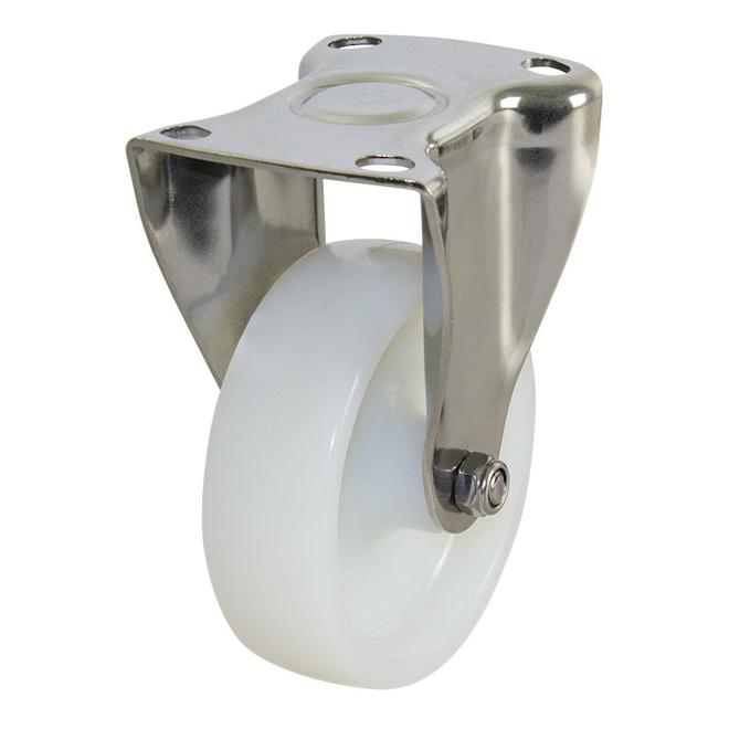 Rigid SS Castor with 100mm Nylon Wheel image 0
