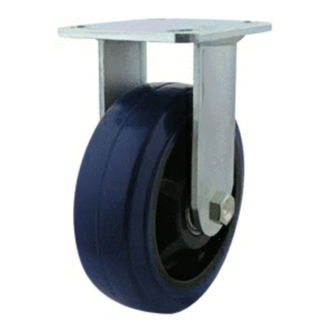 Rigid Castor with 150mm Rebound Rubber Wheel image 0