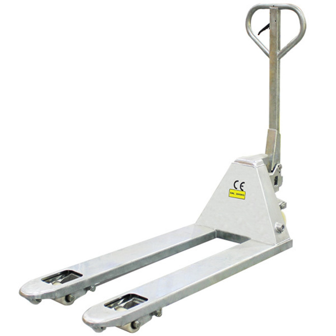 Galvanised 4 Way Entry Pallet Truck image 0