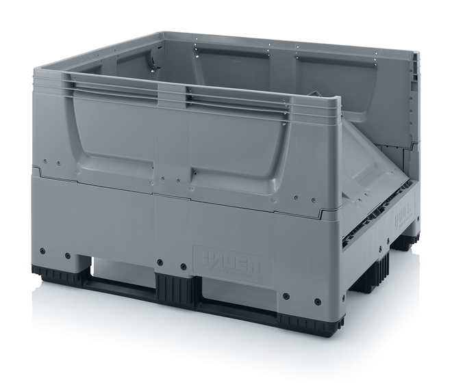 670 Litre Collapsible Pallet Bin Solid with Skids image 1