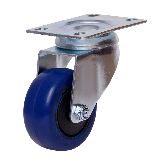 Blue Crate Skate with Rebound Rubber Wheels / ZP Castors image 2