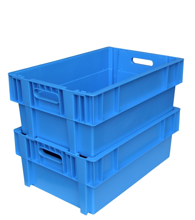 44 Litre Stack N Nest Crate Fully Vented (600 x 400mm) image 2