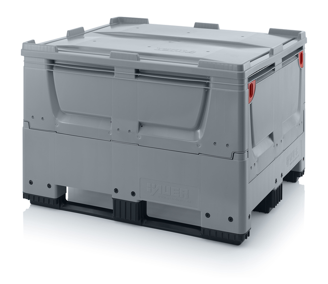 670 Litre Collapsible Pallet Bin Solid with Skids image 6