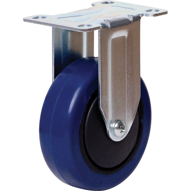 Rigid Castor with 100mm Rebound Rubber Wheel image 0