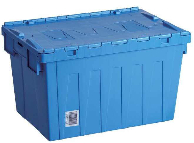 60 Litre Attached Lid Crate (600 x 400mm) image 0