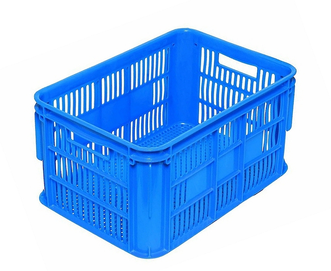 65 Litre Vented Stackable Draining Crate (610 x 420mm) image 1