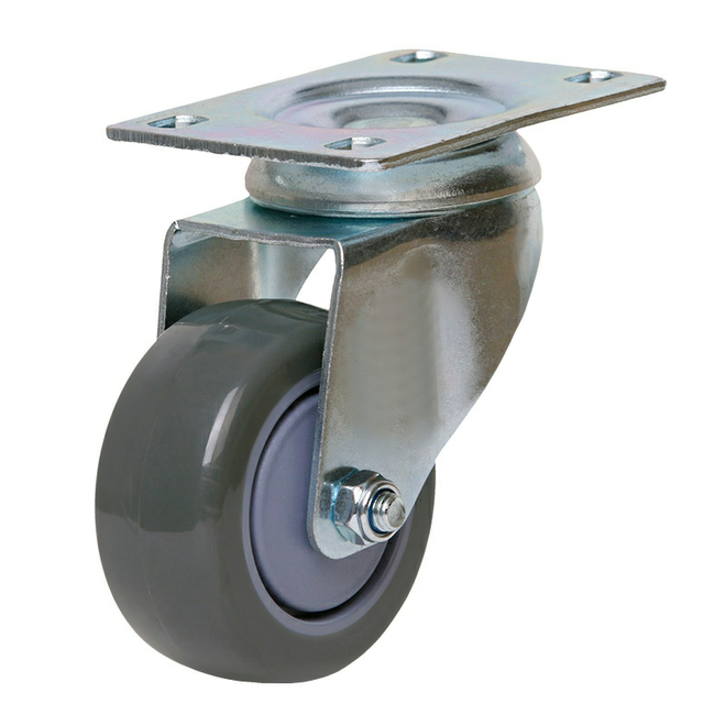 Swivel Castor with 75mm Polyurethane Wheel image 0