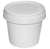 Click to swap image: COPACK Round Tab-Tub 1 Litre White T/E Base & White Lid