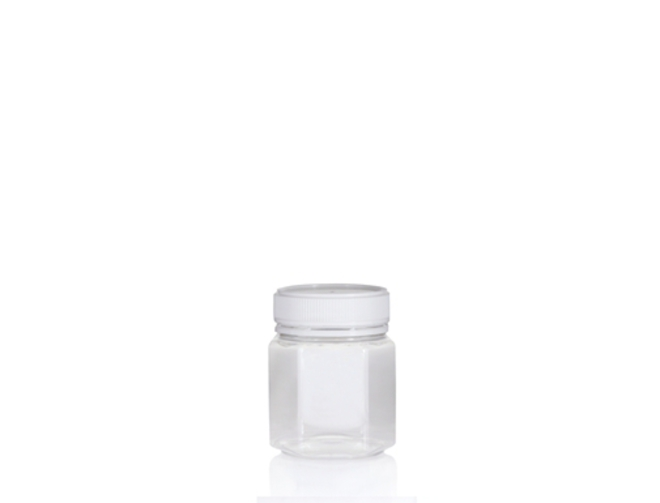 100ml Hex PET Jar image 0