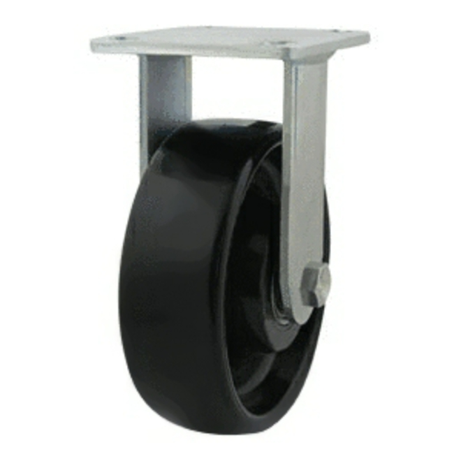 Rigid Castor with 150mm Nylon Wheel image 0