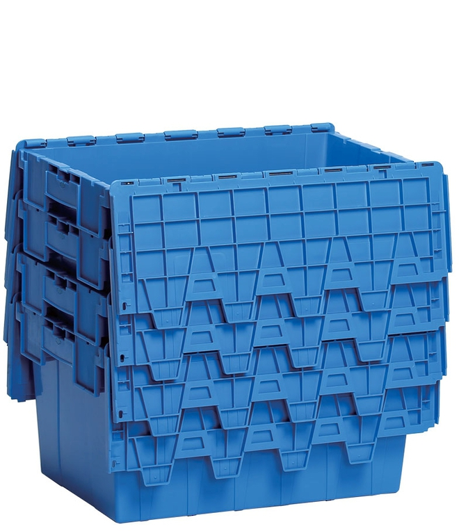 45 Litre Attached Lid Crate (600 x 400mm) image 3