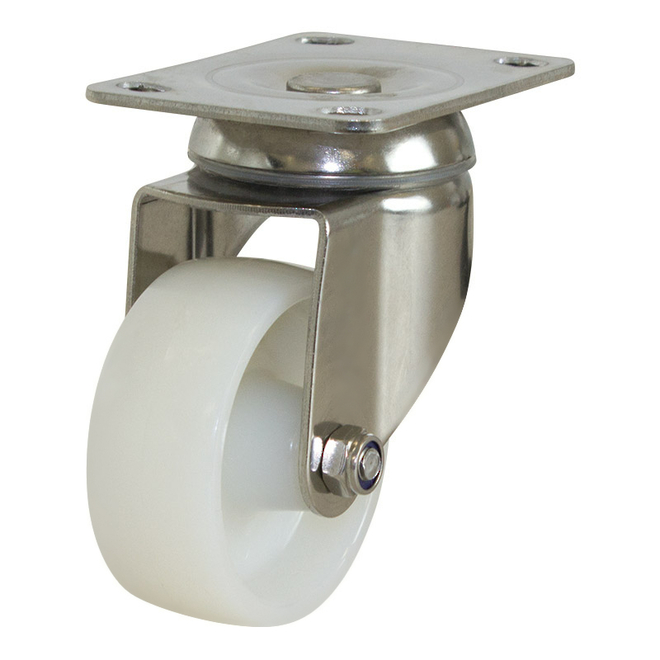 Swivel SS Castor with 75mm Nylon Wheel image 0