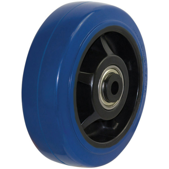 150mm HD Blue Rebound Rubber Wheel image 0