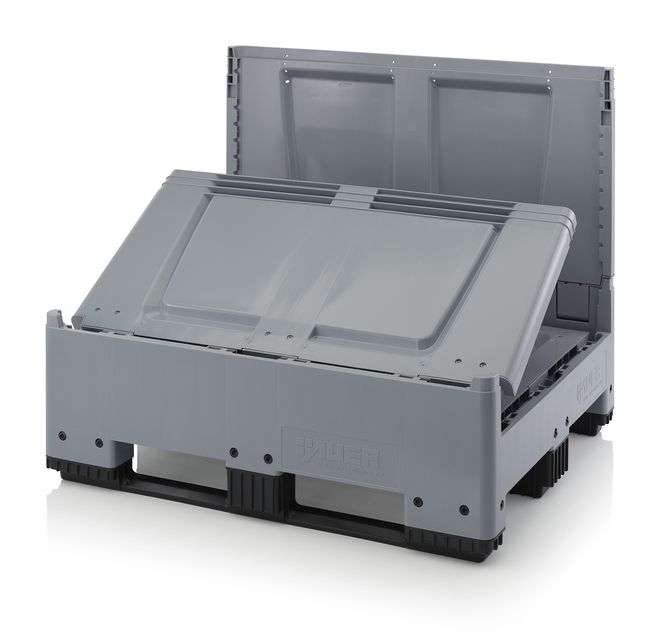 900 Litre Collapsible Pallet Bin  Solid with Skids image 3