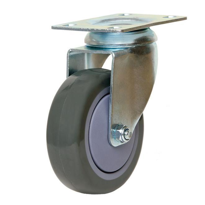 Swivel Castor with 100mm Polyurethane Wheel image 0