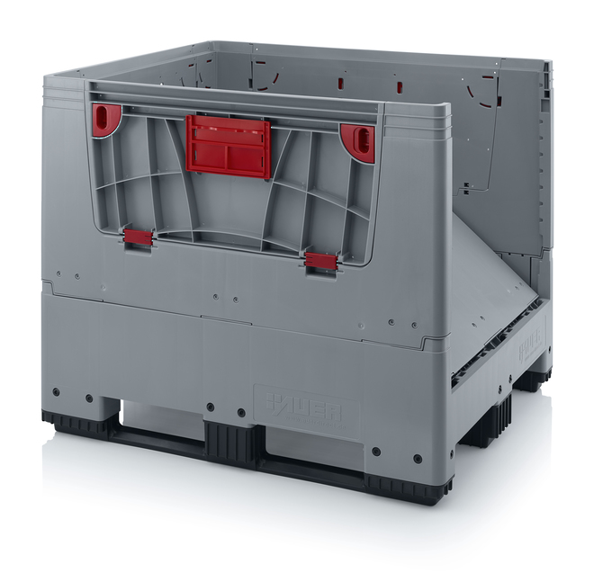 900 Litre Collapsible Pallet Bin  Solid with Access Doors image 4