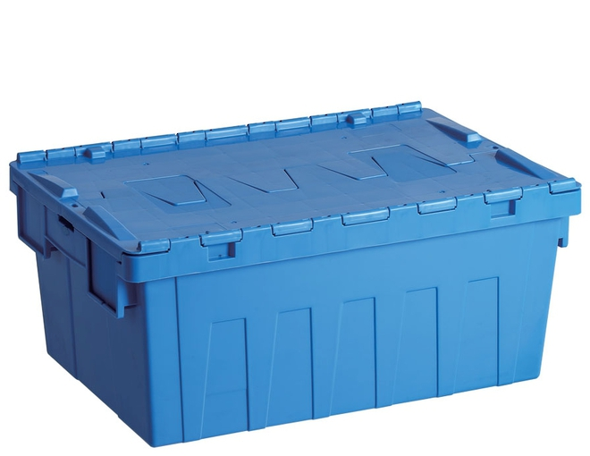 45 Litre Attached Lid Crate (600 x 400mm) image 0
