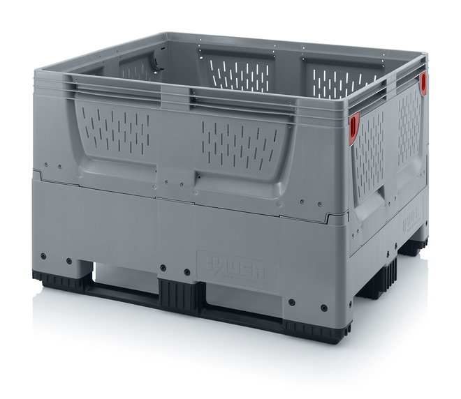 670 Litre Collapsible Pallet Bin Vented with Skids image 0