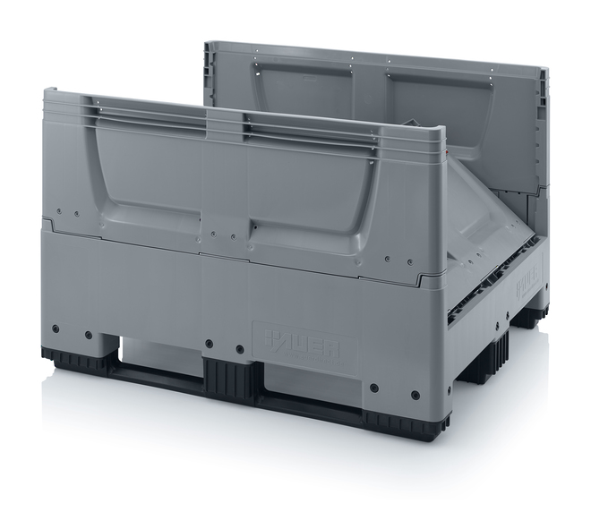 670 Litre Collapsible Pallet Bin Solid with Skids image 2