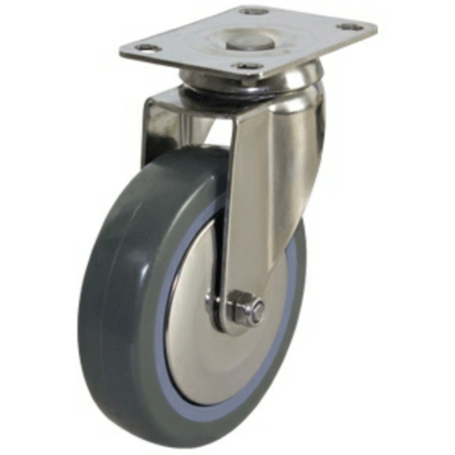 Swivel SS Castor with 100mm Polyurethane Wheel image 0