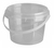 Click to swap image: COPACK Round Tab-Pail 500ml Clear T/E Base & Clear Lid